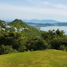 A view back from the Royal Samui Golf Course over The Calvie.
